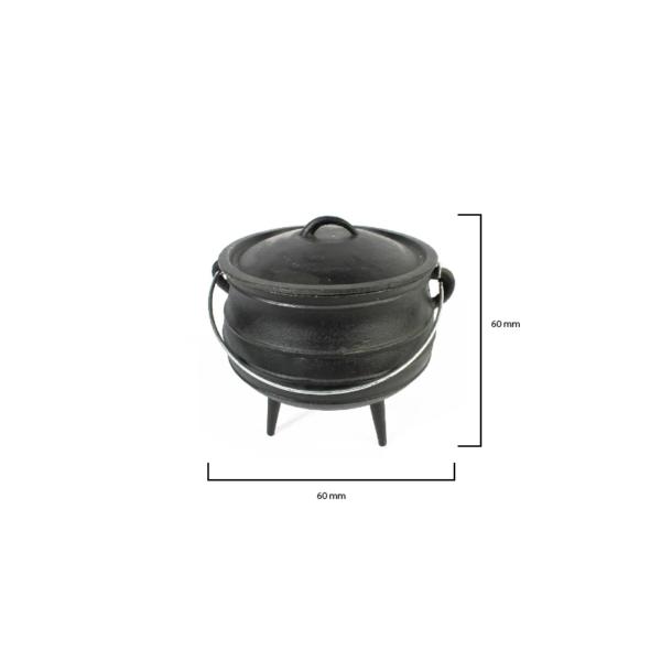 140-18 - LKs Pot [3-Leg] Miniture Size 0.05L [CI]