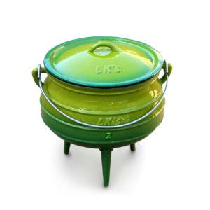 #2 pot 3Leg Red 145-7 temp