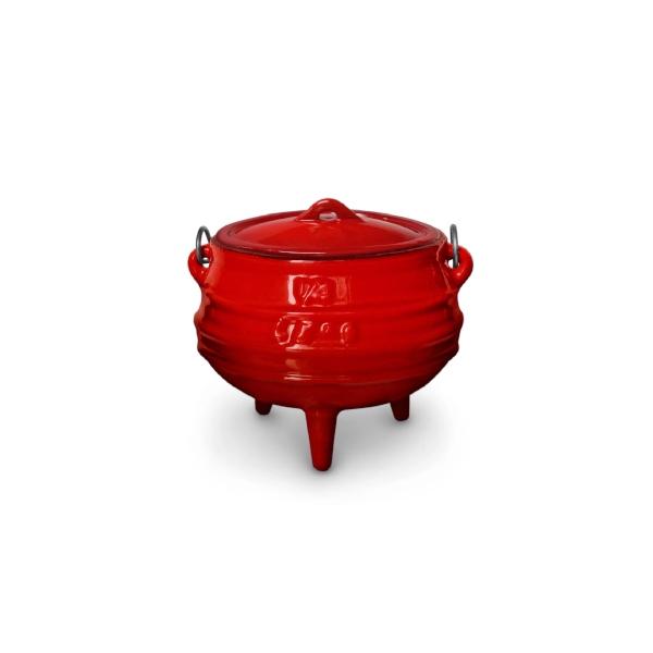 pot 3leg #1.4 (0.7)red enamel 145-3